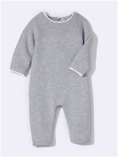 Baby-Strickoverall, Wolle/Baumwolle