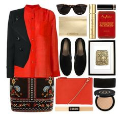 """""""corrida"""" by foundlostme ❤ liked on Polyvore featuring Clarks, Étoile Isabel Marant, John Lewis, Forever 21, Smith & Cult, Gucci, SheaMoisture, Yves Saint Laurent and darkflorals"""