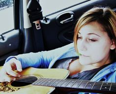Waiting for mama dukes to get out of school, playing guitar in the car. #musiclove #lonejamming #guitars