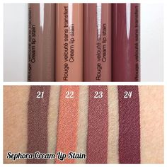Swatches of @Sephora #CreamLipStain in 24 Burnt Sienna