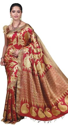 iz Andrew's Blog: Traditional Silk Vivah Bridal Saree 2013 by TCS