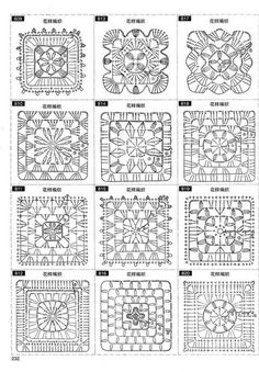 Discover thousands of images about Crochet motif chart patterncrochet square pattern Crochet Bedspread Patterns Part 17 - Beautiful Crochet Patterns and Knitting Patterns - Crochet Bedspread Patterns Part Granny Square Rose SThis Pin was discove Crochet Bedspread Pattern, Crochet Motif Patterns, Granny Square Crochet Pattern, Crochet Blocks, Crochet Pillow, Crochet Diagram, Crochet Chart, Crochet Squares, Thread Crochet