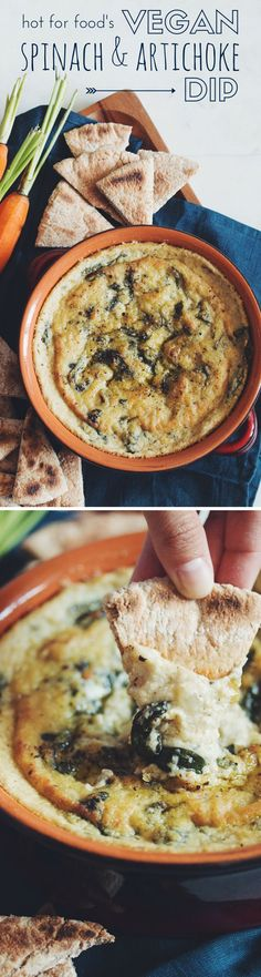 #vegan spinach & artichoke dip | RECIPE by hot for food