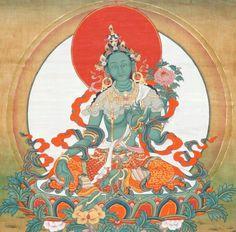 Green Tara Tibetan Buddhism, Buddhist Art, Green Tara, Ascended Masters, Art Icon, Arya, All The Colors, Buddha, My Photos