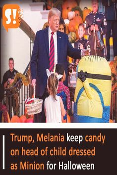 #Minion #costumes #halloween #people Trump Melania keep candy on head of child dressed as Minion for Halloweenbrp classfirstletterScroll down for a also significant minion costumes practical TopicpIf you dont like everything people part of the photo we offer you when you read this piece is exactly the features you are looking for you can see In the photo Trump Melania keep candy on head of child dressed as Minion for  we say that we have presented you with the biggest appealingly photo that… Trump Melania, Minion Costumes, Girl Group Costumes, People Trump, Minions, Candy, Sayings, Halloween, Children
