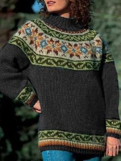Color Block Women Fashion Vintage Sweater – petalprim Source by jennifertrizano sweaters Casual Sweaters, Cardigan Sweaters For Women, Vintage Sweaters, Long Sleeve Sweater, Knit Sweaters, Cardigans, Color Blocking Outfits, Vintage Mode, Pulls