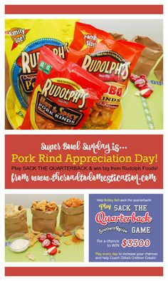 Eat some pork rinds and play to win while you wait for the BIG game!