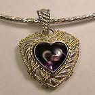 STERLING SILVER JUDITH RIPKA GENUINE AMETHYST HEART PENDANT - Amethyst, Genuine, Heart, Judith, pendant, Ripka, silver, Sterling - http://designerjewelrygalleria.com/judith-ripka/judith-ripka-pendants/sterling-silver-judith-ripka-genuine-amethyst-heart-pendant/
