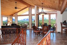 Dining/Living Room View from Stairways - 203 Bristlecone Pines Rd, West Sedona, Listed with Rob Schabatka from RE/MAX Sedona.