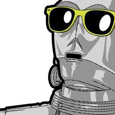 Secret Lives of Heroes: Sun C3PO by Greg Guillemin