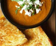 Caprese Soup with Sourdough Grilled Cheese