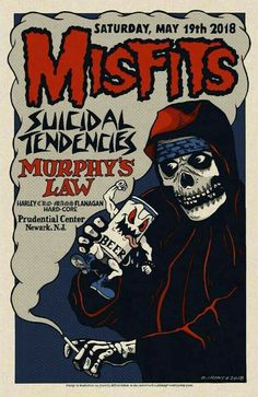 Tour Posters, Band Posters, Music Posters, Misfits Band, Danzig Misfits, Hardcore Music, Punk Poster, Psychedelic Music, Extreme Metal