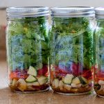 Mason Jar Salads - Such a great idea for taking salad to work!