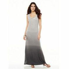 Apt. 9 Ombre-Striped Maxi Dress #Kohls #SpringAtKohls