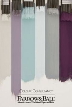 Color scheming for master bedroom; grey, white, aqua will work with cream carpet, stripe wall paper & Art Deco dressing room. Purple Bedrooms, Bedroom Green, Bedroom Colors, Blue Purple Bedroom, Bedroom Ideas, Kids Bedroom, Art Deco, Striped Walls, Gray Walls