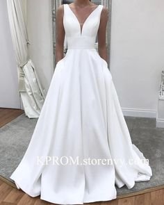 Best Totally Free Simple White Elegant Wedding Dresses with Pockets,Long A-line Satin Sleeveless Fall Wedding gown,Bridal Dress for Women Suggestions Beautiful Wedding Dresses ! The current wedding dresses 2019 includes a dozen various dresses in the Wedding Dress Tea Length, Wedding Dress With Pockets, V Neck Wedding Dress, Modest Wedding Dresses, Bridal Dresses, Prom Dresses, Sexy Dresses, Formal Dresses, Summer Dresses