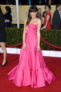 Something about the fit I dont like Lea Michele in Valentino and Jennifer Meyer #sagawards