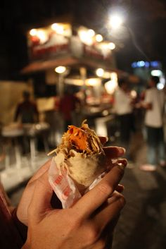 Street food road side in Mumbai.  The best way to eat.