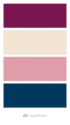 Sangria, Champagne, Blush, and Navy Wedding Color Palette - custom color palette created at MagnetStreet.com