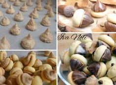 Žaludy s lískovými oříšky a čokoládou