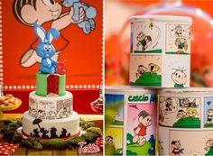 turma da monica Music Party, Malu, School Parties, Flora, Picnic, Birthdays, Happy Birthday, Christmas Ornaments, Holiday Decor