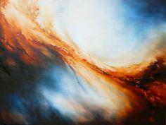 Grote Canvas Abstract Olieverfschilderij door Kunstenaar Simon