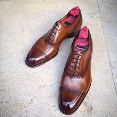 """Gaziano & Girling - Bespoke & Benchmade Footwear: The """"Harrow"""" on the GG 06 last in vintage pine. A..."""