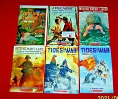 6 War Chapter Books Boys Tides of War C. Alexander London Doyle Grades 4-7 No Mans Land, Books For Boys, Chapter Books, Book Title, Great Books, See Picture, Book Series, True Stories, Author