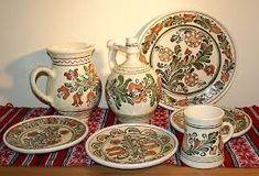 Carafa ceramica traditionala din Transilvania, 1500 ml Turism Romania, Sugar Bowl, Bowl Set, Folk Art, Objects, Traditional, Tableware, Image, Interior