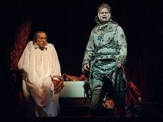 """Larry Yando as Ebenezer Scrooge and Joe Foust as the Ghost of Jacob Marley in """"A Christmas Carol"""" at Goodman Theatre 2012 Goodman Theatre, Jacob Marley, Ebenezer Scrooge, Victorian Costume, Christmas Carol, Yahoo Images, Larry, Musicals, Costumes"""