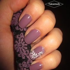 Awesome lilla flowers by tokianails from nail art gallery 2017 spring nail colors, popular nail Spring Nail Colors, Spring Nails, Summer Nails, Spring Nail Art, Summer Colors, Fabulous Nails, Gorgeous Nails, Pretty Nails, Fingernail Designs