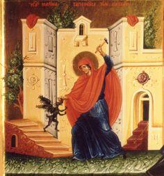 """Saint Marina humiliating the devil"""