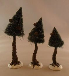 "Dept 56 - Pinewood Trees  4.5""  5.5""  &  6.75"""