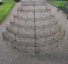 English Victorian Wire Plant Stand