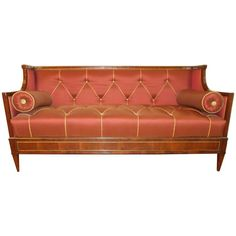 Early 19th Century Yew Wood Baltic Empire Sofa | 1stdibs.com