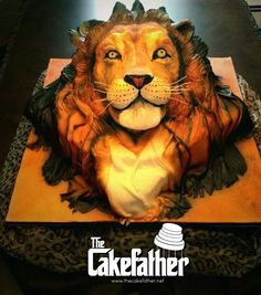 Lion cake for Michael's 60th birthday celebration!