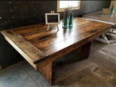 This farmhouse pedestal table is hand crafted using reclaimed barn wood, reclaimed hard wood, and/or rough cut non-reclaimed wood. This unique creation is meant to be the focal point of your dining room. This farmhouse pedestal table can take your space from ordinary to extraordinary. Wooden Whale Workshop Modular Furniture, Rustic Furniture, Furniture Stores, Farmhouse Style Table, Farmhouse Ideas, Farmhouse Dining Room Table, Farmhouse Living Room Furniture, Kitchen Tables, Kitchen Ideas