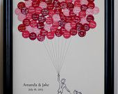 Wedding Guest Book Balloons for up to 150 Guests. $57.00, via Etsy.