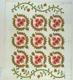 Coxcomb - I like this variation.  Made by Alice Rose Klein (Mrs. Madison C. Klein) of Indiana. 71 x 81 [18.5 inch blocks with 7.5 inch border]