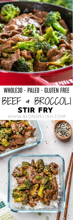 This healthy beef and broccoli stir fry recipe is one of the easiest things you will ever make. Not to mention, it's gluten-free and paleo as well.