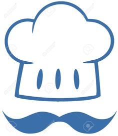 18180652-Blue-Chef-Hat-With-A-Mustache-Logo-Stock-Vector.jpg (1121×1300)