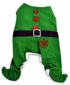 Dogit Christmas Elf Dog Pyjama Large Green from Rolf C. Hagen (USA) Corp.  $15.99   Available at BuyDogSweaters.com
