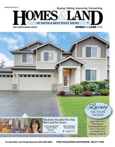 View the latest issue online of Homes & Land of South & West Puget Sound #homesandlandmagazine #realestate #homesforsale