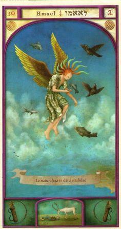 (30) OMAEL (Kabbalistic angel) protects those born 18 - 22 August, promotes fertility and protects the biochemical sciences. (ángel Cabalístico) protege aquellos nacidos 18 - 22 agosto, favorece la fertilidad y protege las ciencias bioquímicas.
