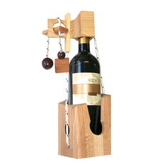 Dont Break the Bottle Puzzle - Fun way to gift wine to someone!  They have to figure out the puzzle to get to it!