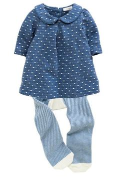 Buy Blue Spot Jersey Dress Set (0-18mths) online today at Next: United States of America