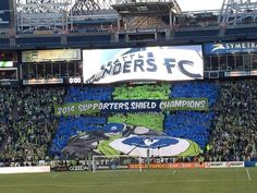 Emerald City Supporters (Seattle Sounders FC) MLS Mls Soccer, Soccer Stadium, Seattle Sounders, Seattle Seahawks, Mls Cup, Emerald City, World Of Sports, Football Team, Thunder