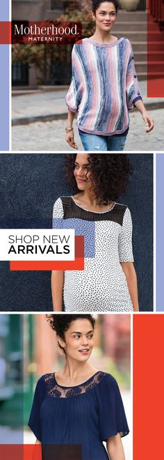 This Just In: Maternity Clothes Made to be Seen! New Fall/Winter 2016 pieces offer pretty prints, touches of lace and upgraded stripes. They flatter the bump, while keeping you comfortable through the work-week to the weekend.
