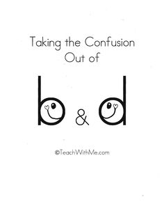 Classroom Freebies: Taking The Confusion Out Of b & d