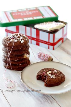 Salted Peppermint Bark Chocolate Cookies